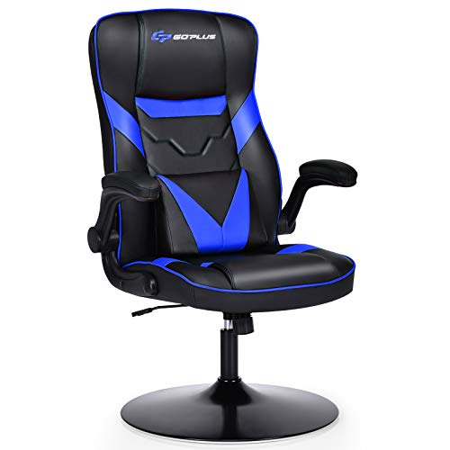 Goplus Rocker Gaming Chair, Racing Style Computer Office Chair with Adjustable Armrest and Lumbar...