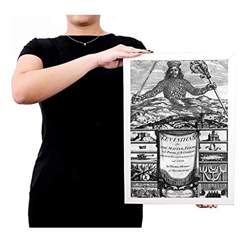 Quadro poster emoldurado thomas hobbes Leviatã brc7820