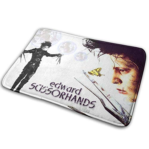 Stylish Edward Scissorhands Bathroom Rugs Bath Mat Door Mats Soft Cartoon Memory Foam Front Rug Carpet Suitable for Inside,Outdoor Patio,Front Door,Bathroom,Balcony,Kitchen 15.7 x 23.5 in 40 x 60 cm