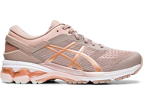 ASICS Women's Gel-Kayano 26 Running Shoes, 9.5M, Fawn/Rose Gold