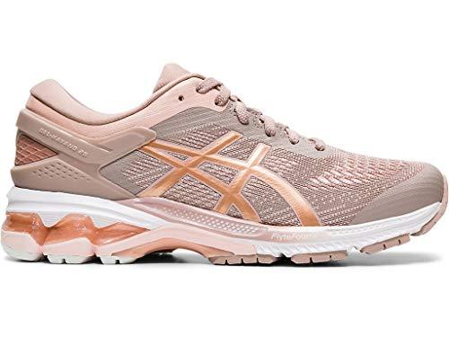 ASICS Women's Gel-Kayano 26 Running Shoes, 8M, Fawn/Rose Gold