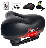 Giddy Up! Bike Seat - Most Comfortable Memory Foam Waterproof Bike Saddle, Universal Fit, Shock...