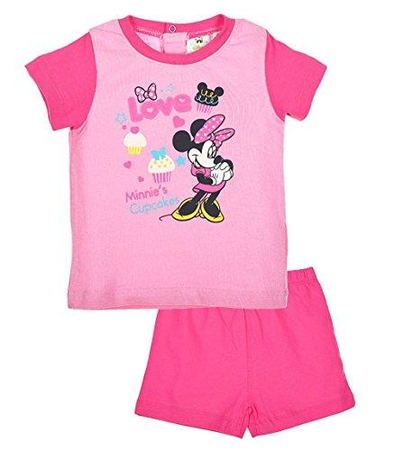 Pyjama court bébé fille Minnie Rose et Rouge de 6 à 23 mois (12 mois, Rose)