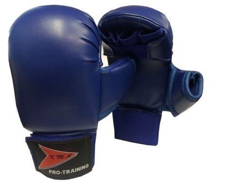 Vader Sports Kinder Karate-Handschuhe Karate-Handschuhe Junior Vollkontakt Karate-Hand Sicherheitshandschuhe (blau) klein
