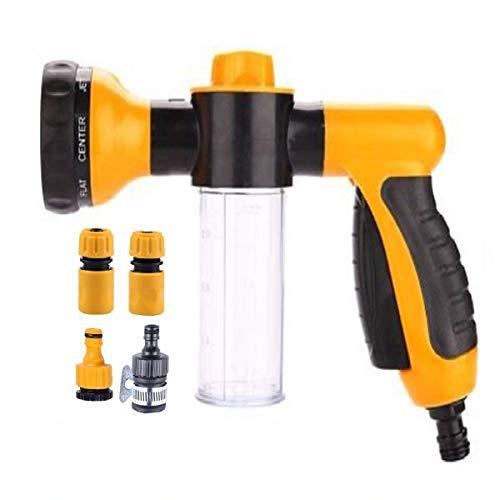 Malayas Garden Hose Nozzle - Multifunctional Foam Water Spray Gun - 8...