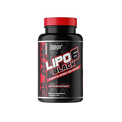 Nutrex Research Lipo-6 Black Extreme Potency   Powerful Weight Loss Suppliment, Appetite Suppressant, Energy Fat Burning Diet Pills, 120 Count