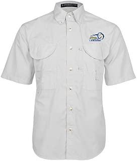 Southeastern Oklahoma State White Short Sleeve Performance Fishing Shirt 'New Primary Logo Embroidery'
