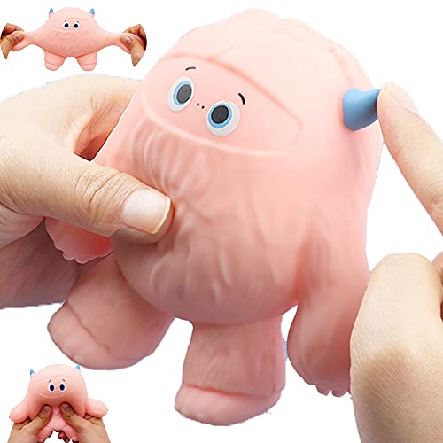 Funny Cute Snow Monster-Shaped Balls,Scented,Fidget Toys Stress Relief Squeeze Ball Stress Toys for Kids and Adults,Sensory Toys for Autism,Anxiety Relief,Heal Your Mood (Pink)