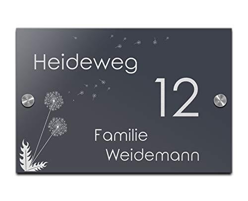 Edles Namensschild | Türschild mit Gravur mit über 80 Motiven Familien-Haus Namensschild Familienschild Türschilder für die Haustür mit Namen 30x20 cm