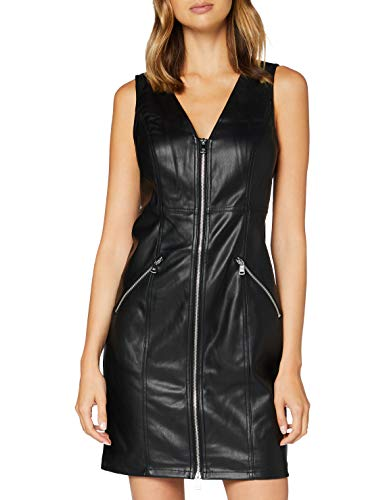 Only ONLSARAH Faux Leather Dress OTW Vestido, Negro, L para Mujer