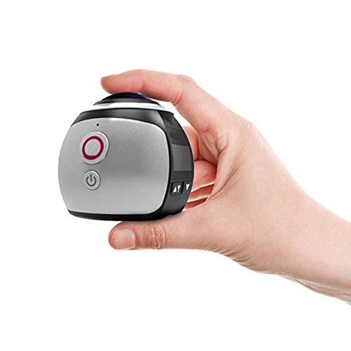 Cámara de acción WiFi, video HD de 2448P, lente súper gran angular de 32 mm, cámara impermeable de 30 m Cámara panorámica de 360 ° con kit de accesorios para grabación de video de películas cortas /