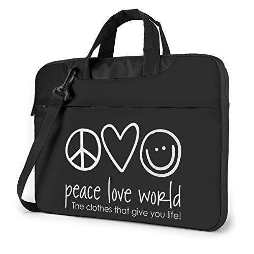 Peace Love World Classic Laptop Bag-Messenger Shoulder Bag Notebook Bag Compatible with 15.6 Inch MacBook Pro MacBook Air Lenovo Acer Asus Dell Hp Samsung