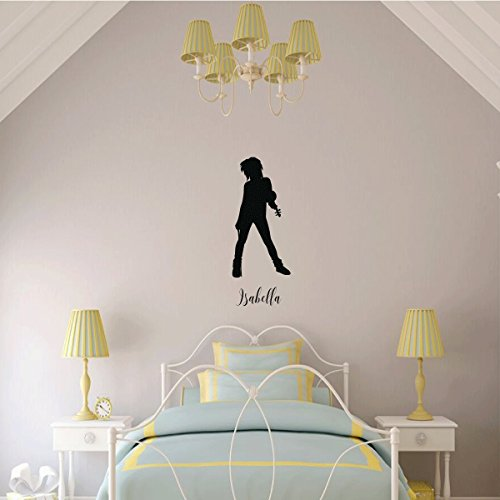 Violin Wall Decor - Personalized Vinyl Sticker Silhouette Decal - Violinist Gifts for Girl's Bedroom, Playroom or Music Room