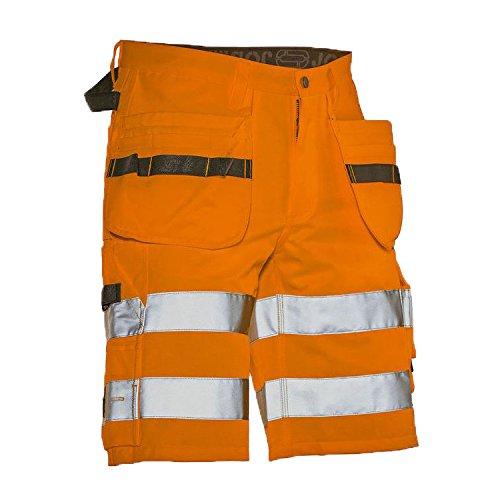 Jobman 220762-3100-C46 HI-VIS Craftsman korte broek maat in oranje, C46 C58 ORANJE