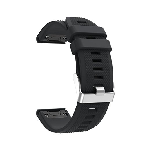 Lisin Replacement Silicagel Soft Quick Release Kit Band Strap For Garmin Forerunner 935 GPS Watch Smart Watch Accessories watchband (Black)