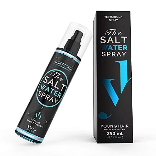 YoungHair The Salt Water Spray, Spray de Agua Salada para el Cabello ¡El secreto para aumentar tus Rizos, Volumen o Ondas Surferasuna manera rápida y fácil!