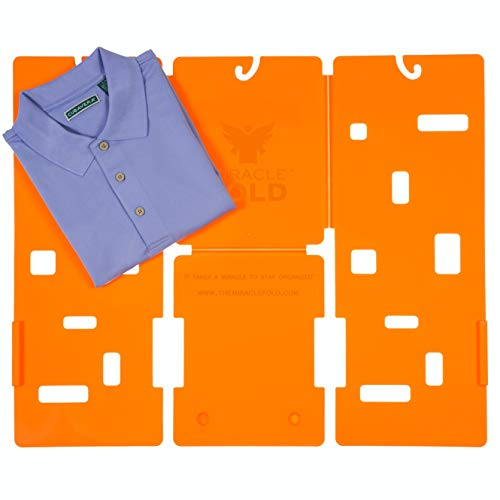 Product Image of the Miracle Fold Laundry Folder Clothes T-Shirts Pants Towels Organizer Fast Easy and Fun Time Saver
