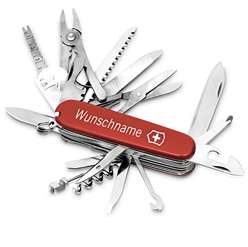 Victorinox Swiss Champ Taschenmesser mit Gravur I Geschenk für Männer I Geschenke zum Geburtstag I Messer mit Gravur