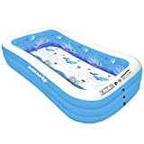 """Aquadoo Family Swimming Inflatable Pool, 120"""" X 72"""" X 22"""" Full-Sized 0.4mm PVC Material Inflatable Lounge Pool for Baby, Kids, Adults Blow up Kiddie Pool for Family Outdoor Garden Backyard"""