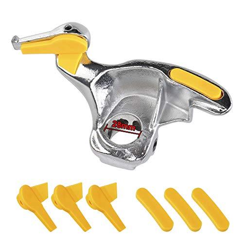 CROSYO 1SET 28 mm / 30 mm Moldeo de estilo Kit de moldeo de acero inoxidable Vehículo de vehículo Cambiador de neumáticos Montaje de metal Demount Bird Head Tool Auto (Color : 28MM)