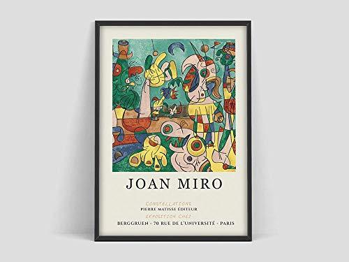 Poster della mostra d'arte Joan Miro, stampato dalla Galerie Berggruen Paris, poster di Joan Miro, stampe di Joan Miro, quadri decorativi senza cornice della famiglia d'arte della mostra X 70x100cm