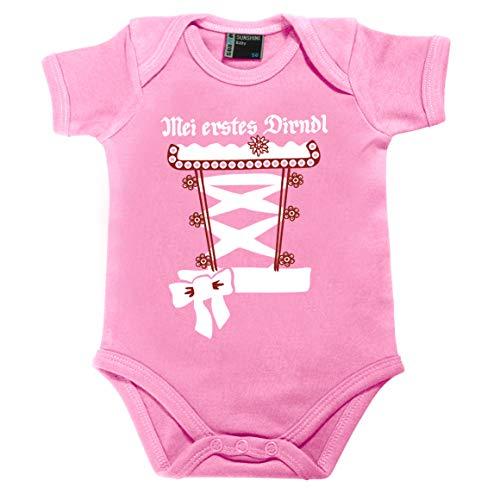 meinherzschlag Baby Dirndl Resi rosa Größe Größe: 62 (3-6 Monate)