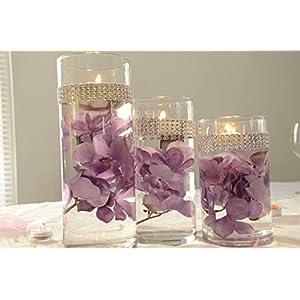 Beach decor,silk flower centrepieces,room decorating,candlelight decor,Wedding floral decor,wedding table decor,Bling decor,party decor,Floral Decor,Bling wedding decorations,Bling vase,Glitter vase