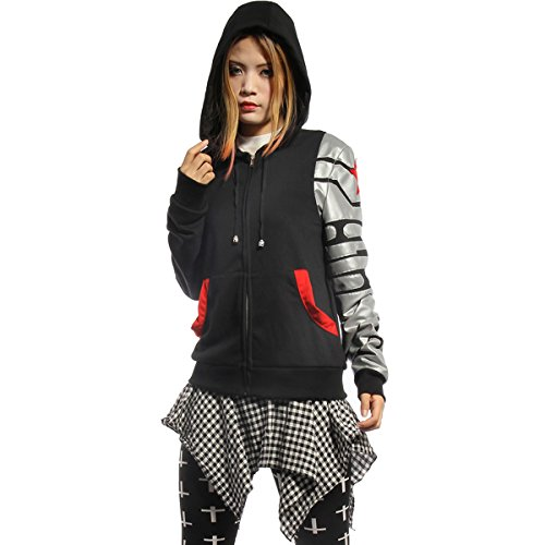 Erwachsene Cosplay Kostüm Bucky Schwarz Baumwolle Hoodie Kapuzenpullover Sweatshirt Frühling Herbst Kleidung Glühend