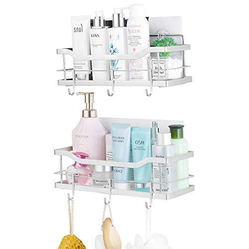 ARNTY Estantes Cesta para Ducha Baño 2 Pieza, Estanteria Ducha Adhesivos Organizador,Estante Ducha Baño (Estante de Ducha B)