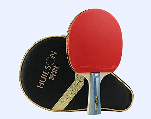 PPuujia Juego de raqueta de tenis de mesa Star Carbon con control profesional y potente raqueta de tenis de mesa (color 2 FL mango 5 estrellas)