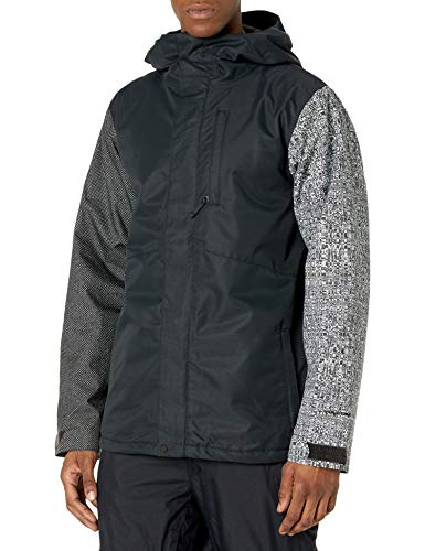 Volcom mens 17Fourty Insulated Snowboard Jacket, BLACK CHECK, XS