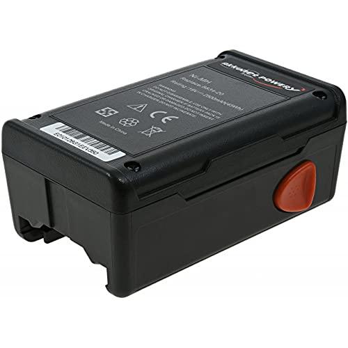 Powery Batería de Alta Capacidad para Cortasetos eléctrico Gardena EasyCut 42 (648872)