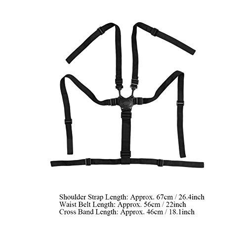 Seggiolone Cinghie Universale Bambino 5 Punti Cintura Imbracatura Titolare Sostituzione Sicurezza Cinture Passeggino Bambini Rotante Protezione Regolabile per Legno Seggiolone Carrozzina