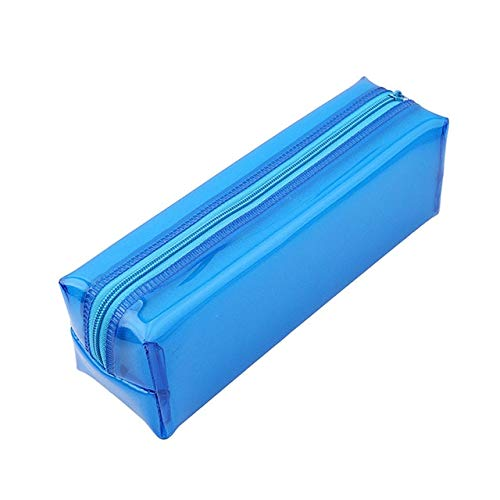 BLI Transparent Cosmetic Bag Daily Necessities Storage Bag Ladies Cosmetic Bag Zipper Blue