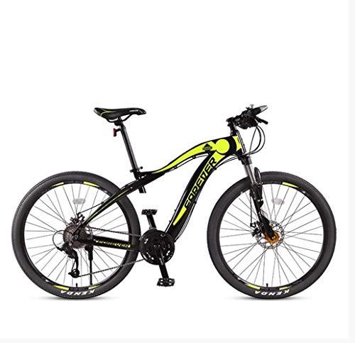 Bicicletta durevole di alta qualità Adulti 27.5 pollici Mountain bike, Full Suspension aggiornamento in lega di alluminio da neve Biciclette, doppio freno a disco City Road biciclette, 27 Velocità Tel
