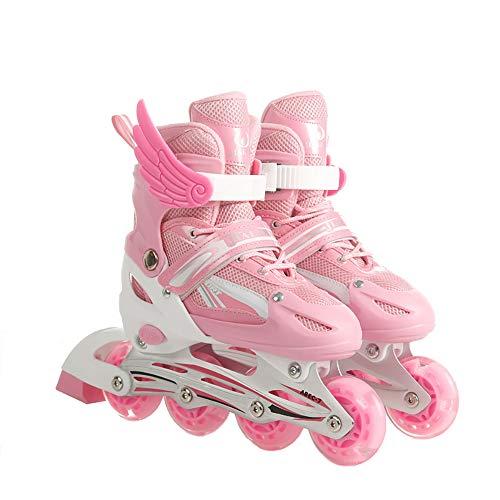 Inline Skates Kinder Erwachsene Inliner Rollen inliner mit 4in1 Schlittschuhe Einstellbarer Größe Skates Unisex Fitness Skates für Erwachsene Fitness Skates für Kinder Gute Geschenk für Kinder