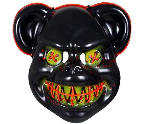 Led Licht Masker, De Zuivering Horror Beer Cool Masker Met Lichten Voor Vermomming Kostuum Halloween DJ Carnaval Volwassenen Tieners Man Vrouw