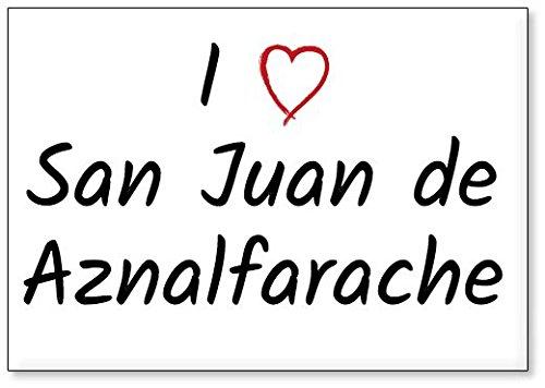 Mundus Souvenirs - Amo San Juan de Aznalfarache, Imán para Nevera (diseño 2)