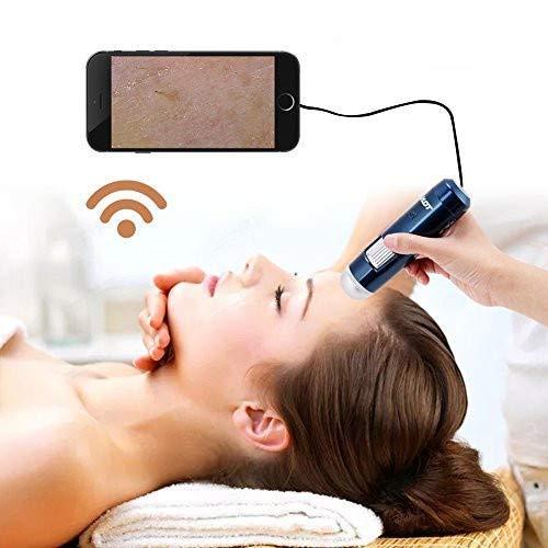 5-200X Kopfhaut Detektor Digital Haar Haut Analysator Mikroskop Lupe Gerät 200MP Kamera Wifi und USB Connect(EU plug)