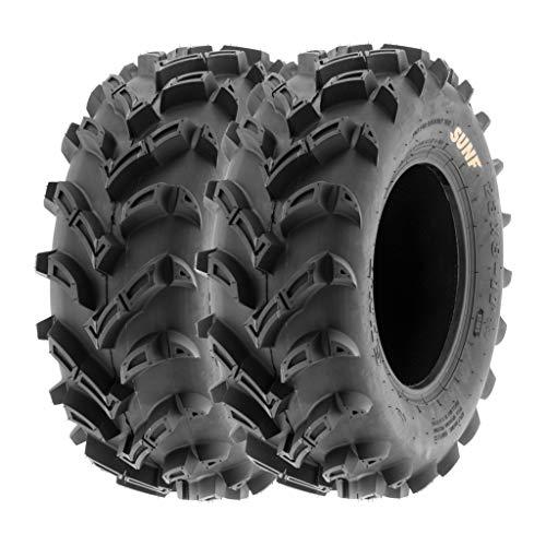 SunF 25x8-12 25x8x12 ATV UTV Tires 6 PR Tubeless A024 [Set of 2]