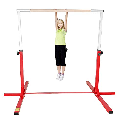 Warmiehomy Gymnastics Horizontal Bars Adjustable Gymnastics Kip Bar 4FT For...