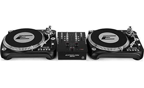 DJ Starter–2x Epsilon Tocadiscos + Epsilon 2de canal Licuadora Bundle