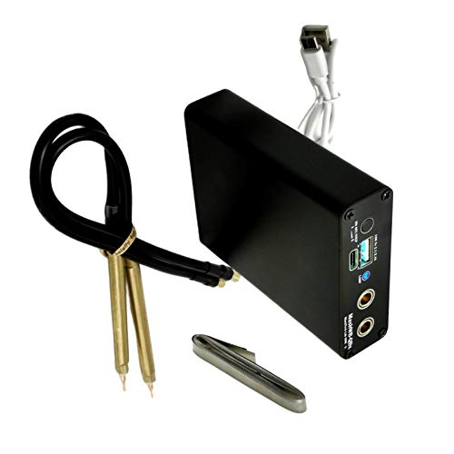 Sharplace Soldadora de punto, Mini soldadora de punto ajustable portátil de 5 engranajes para 18650 soldadora de punto de batería Kit de herramientas de máquina