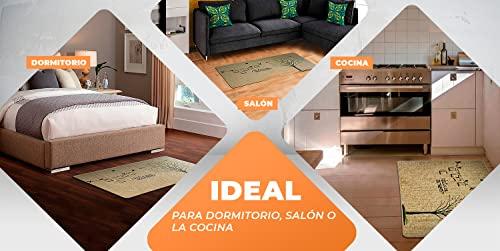 LucaHome – Alfombra Interior casa Verona Base Antideslizante, Felpudo Premium, fácil Limpieza, Alfombra Acolchada, Felpudo de Interior Pasillo, Cocina, Dormitorio.. (Nature, 50x130 cm)