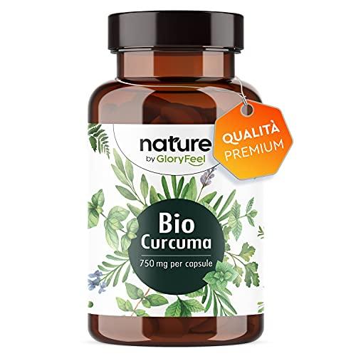 Integratore Bio Curcuma, 240 Capsule Vegan, 4602mg Curcuma Organica con Pepe Nero Bio per Dolori Articolari, Capsule di Piperina e Curcuma di cui Curcumina (355,8mg) + 12mg di Piperina