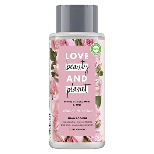 Love Beauty & Planet Shampooing Femme Vegan Eclosion de Couleur, Beurre de Muru Muru et...