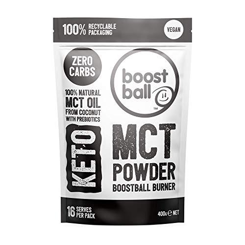 Boostballs Keto MCT Powder, Vegan, No Carbs, No Sugar MCT Powder, 400 g BBMCT02