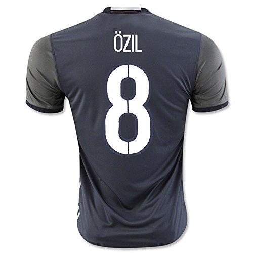 adidas DFB A Herren-T-Shirt, grau/weiß/schwarz, Größe 3XL Gr. Small 91 cm/97 cm Brust, - Ozil 8