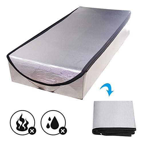 """Attic Stairs Insulation Cover for Pull Down Stairway, R-Value 15.5, Extra Thick, Air Tight Attic Tent Door Stairway Ladder Insulator Cover with Easy Zipper Access 25"""" x 54"""" x 11"""""""