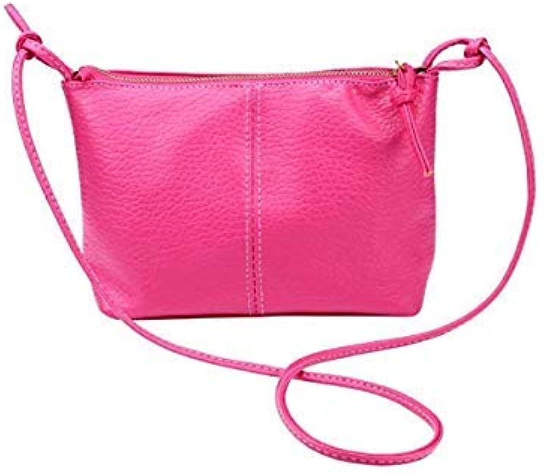 Bloomerang Hot Sale Crossbody Bags Women Faux Leather Satchel Shoulder Bag High Quality Leather Messenger Tote Handbag bolsos women T color hot Pink Big